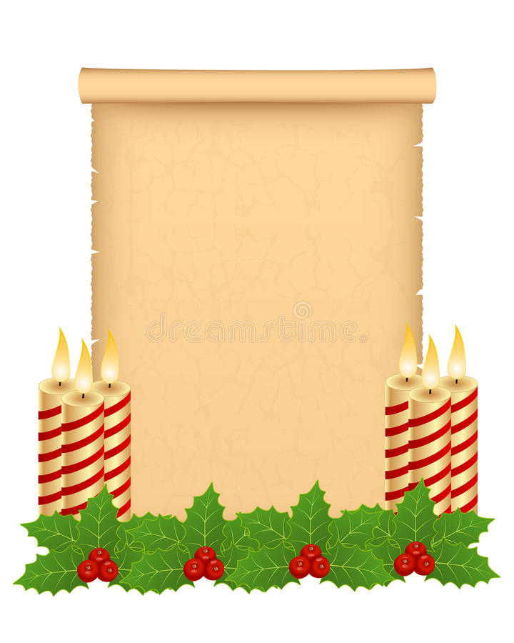 Download Christmas parchment stock vector. Illustration of burnt - 22406097