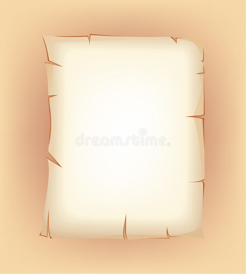 Download Christmas Parchment For Wish List Stock Illustration - Image: 27681129