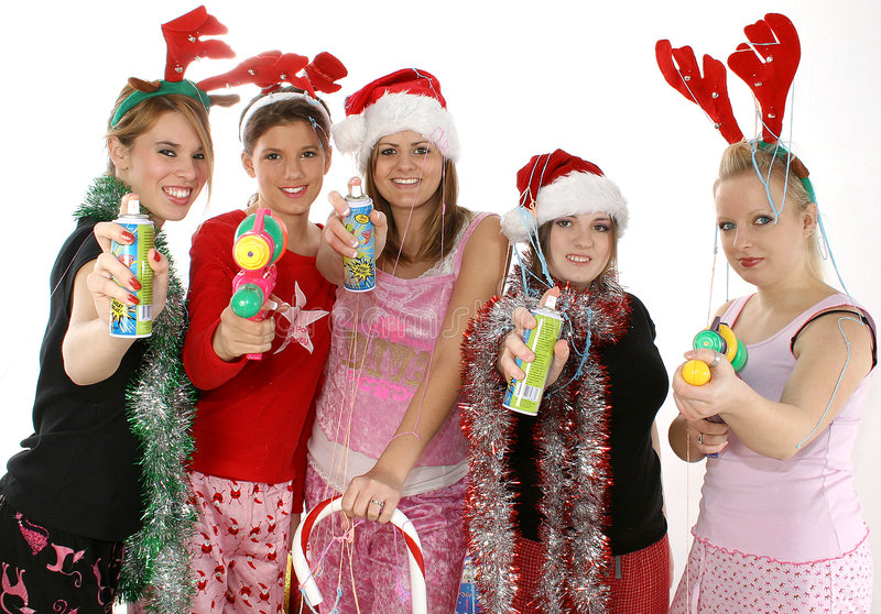 Download Christmas Party stock image. Image of hispanic, cute, nineteen - 1677615
