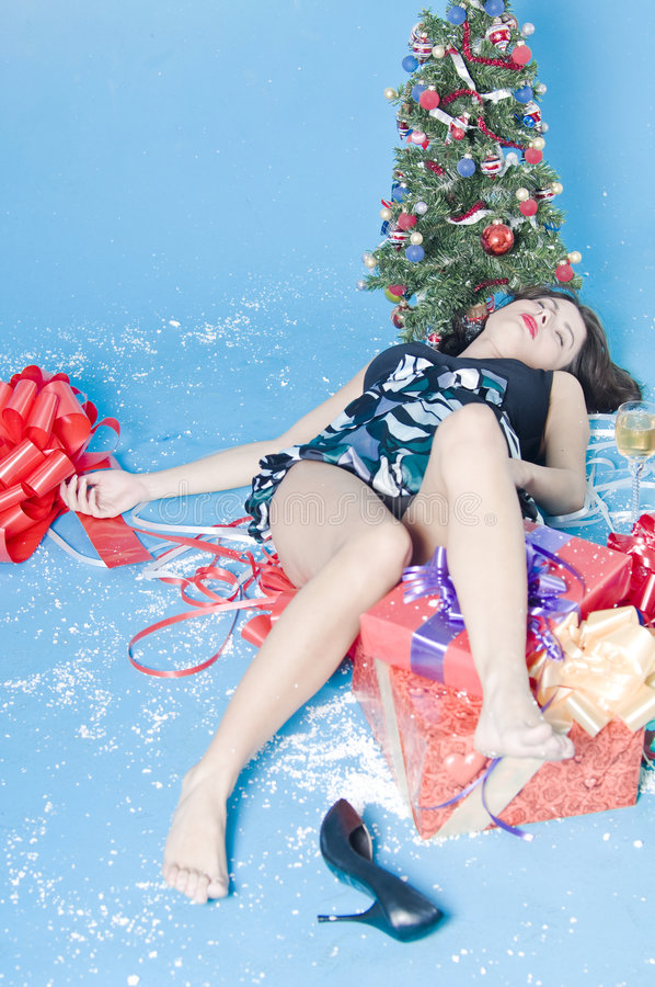 Download After Christmas Party stock photo. Image of babe, cute - 7241376