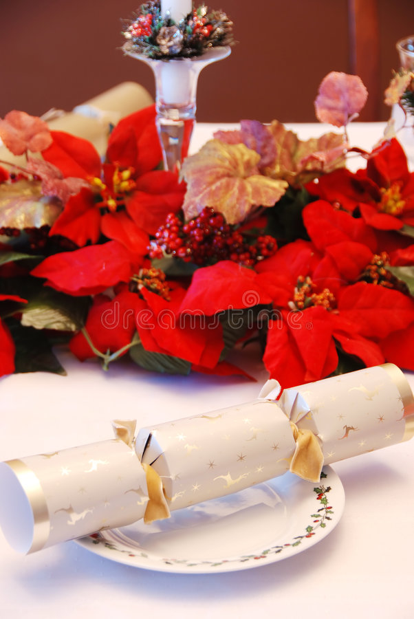 Christmas party cracker stock photography