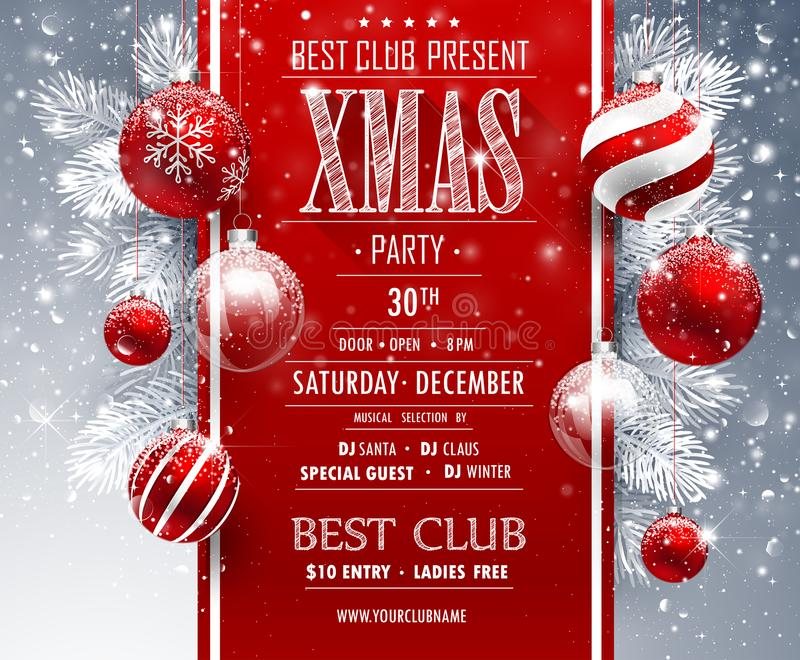 Christmas Party design. Template. Vector illustration royalty free illustration