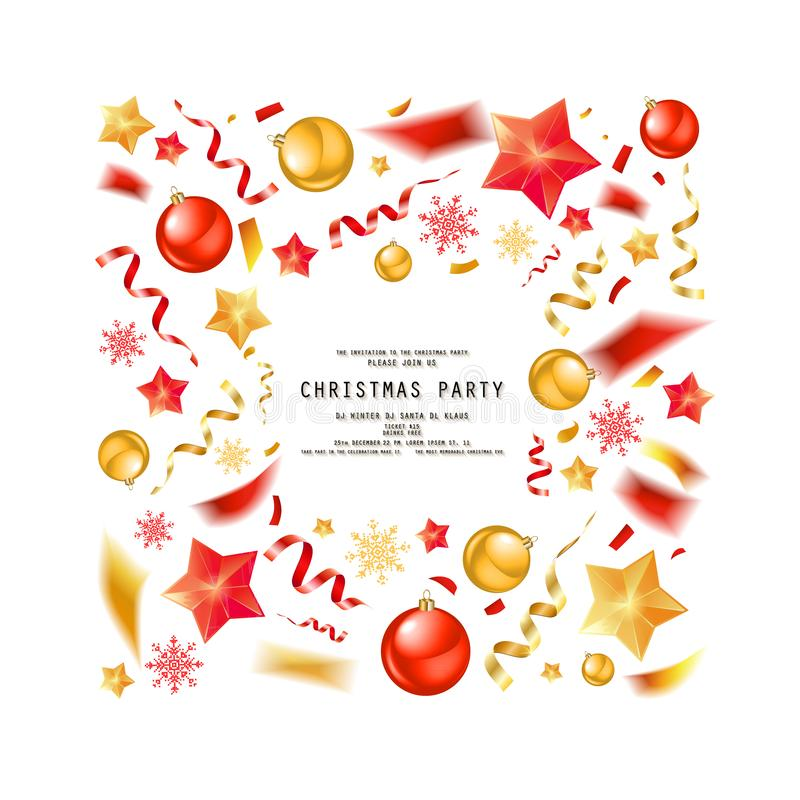 Christmas Party Or Dinner Invitation Stock Illustration