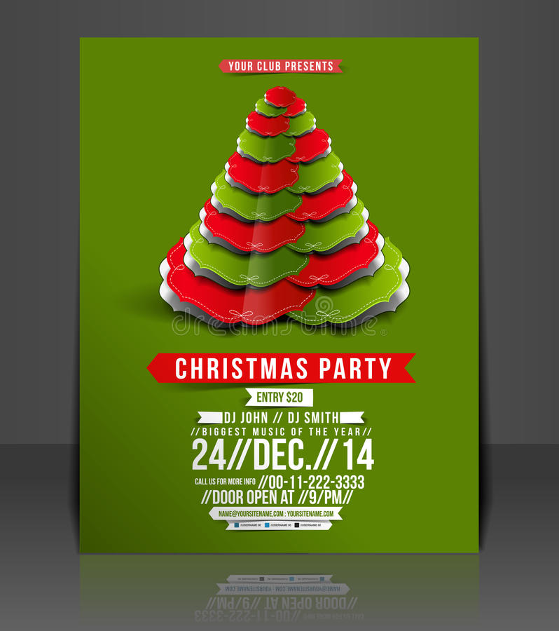 Free Christmas Party Flyer Stock Photo - 40825120