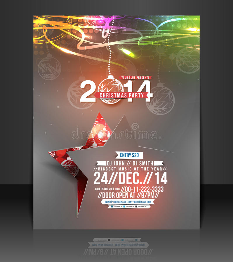 Free Christmas Party Flyer Royalty Free Stock Photography - 40825137
