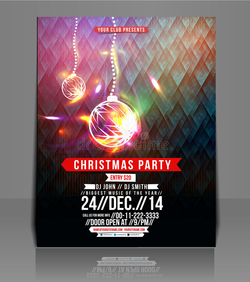 Free Christmas Party Flyer Stock Photo - 40825220