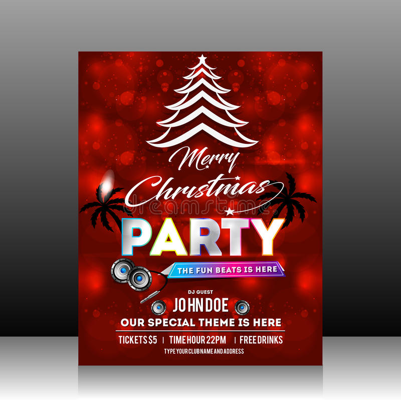 Christmas Party Flyer Ideas Part - 37: Download Christmas Party Flyer Design Stock Vector - Illustration Of  Brochure, Holiday: 80610439
