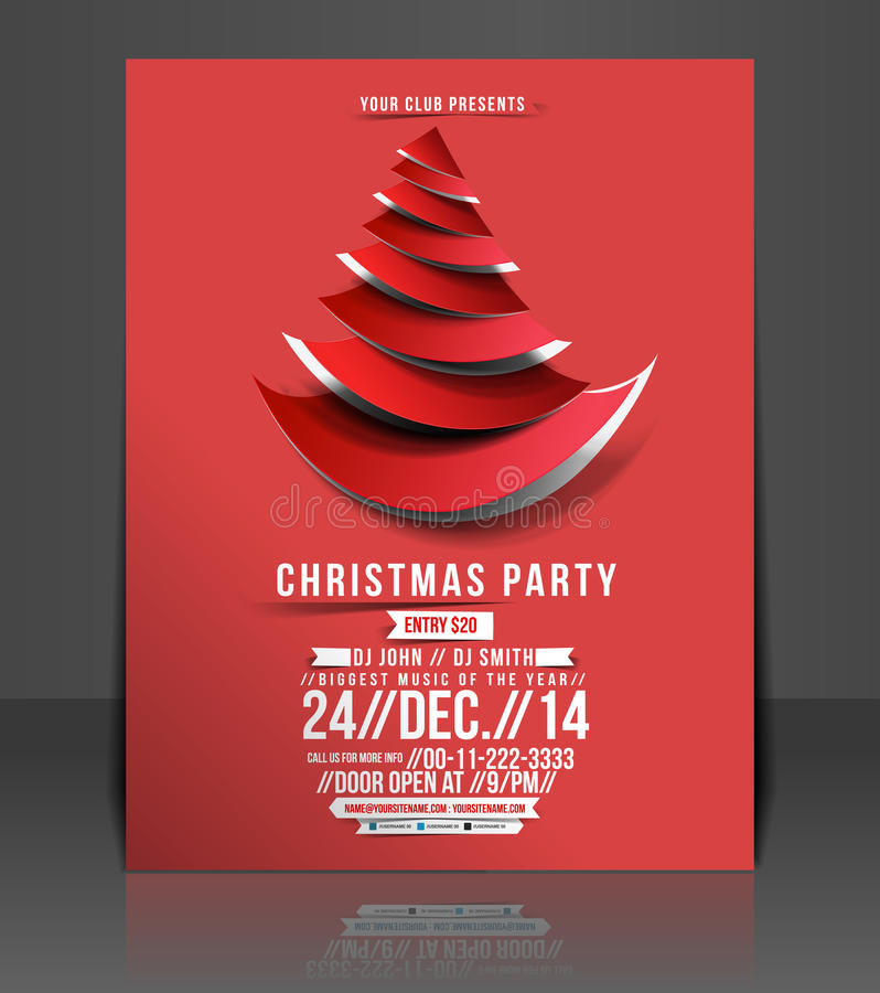 Christmas Party Flyer Stock Vector Illustration Of Event