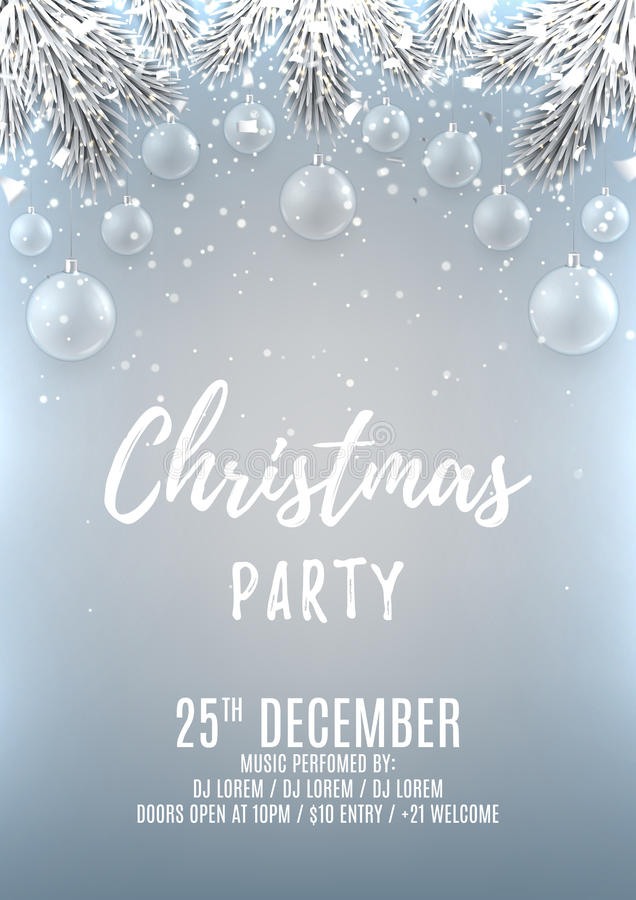 Christmas party flyer template royalty free illustration