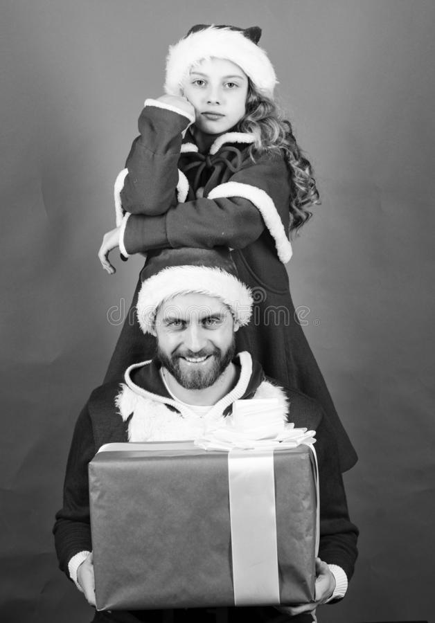 Christmas party. How to be santa claus parents guide. Belief in santa constitutes most magical part of childhood. My dad. Is santa claus. Girl little cute child stock images