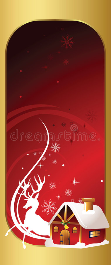 Christmas Party Invitation Card Stock Image