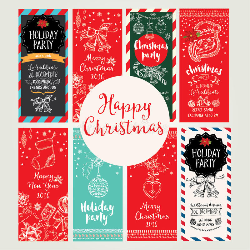 Christmas Party Invitation. Holiday Card. Stock Vector ...