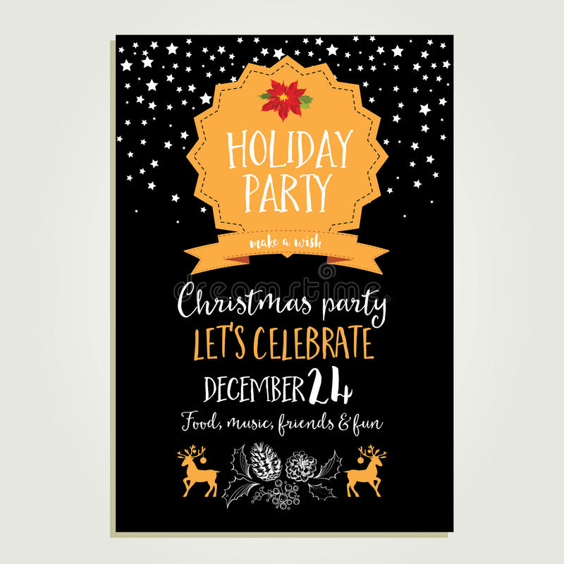 Christmas party invitation holiday card stock vector download christmas party invitation holiday card stock vector illustration of lunch cafe stopboris Image collections