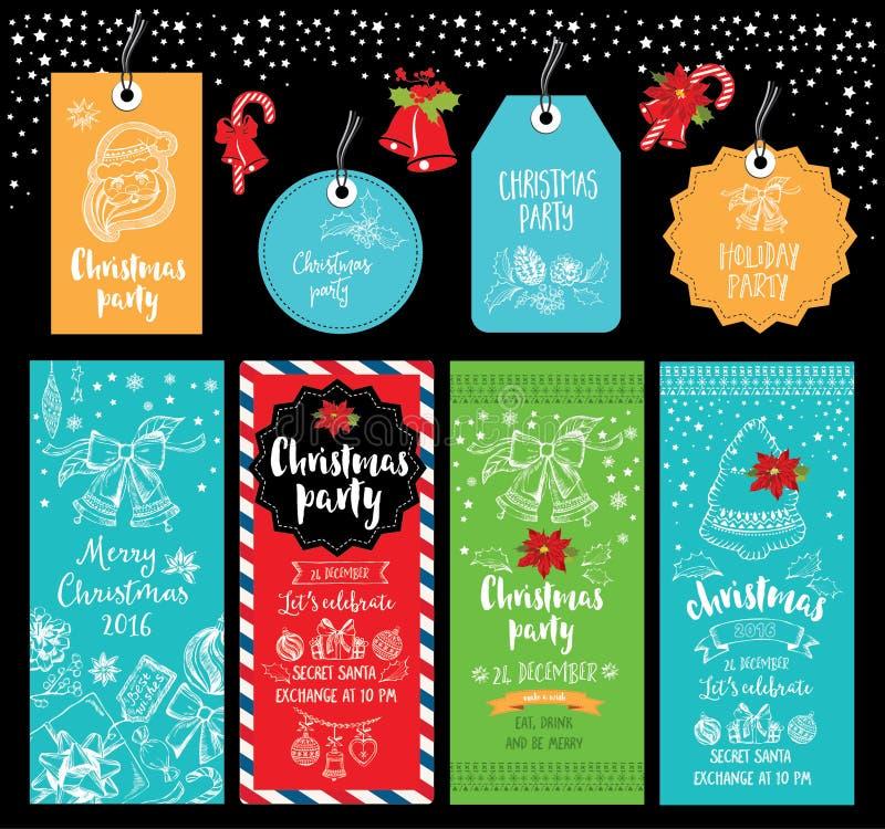 Christmas Party Invitation. Holiday Card. Stock Vector ...