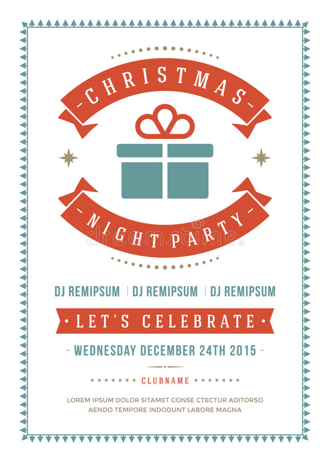 Download Christmas Party Invitation Poster Design Vector Stock