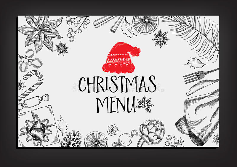 Christmas party invitation restaurant food flyer stock vector download christmas party invitation restaurant food flyer stock vector illustration of invite stopboris Image collections