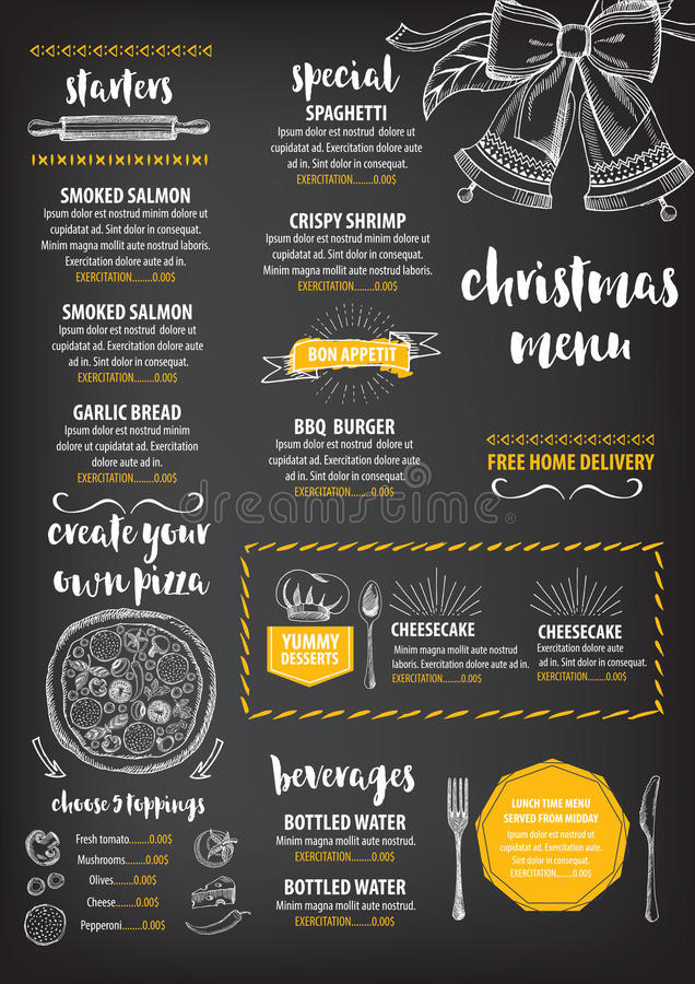 Christmas party invitation restaurant food flyer stock vector download christmas party invitation restaurant food flyer stock vector illustration of graphic stopboris Images