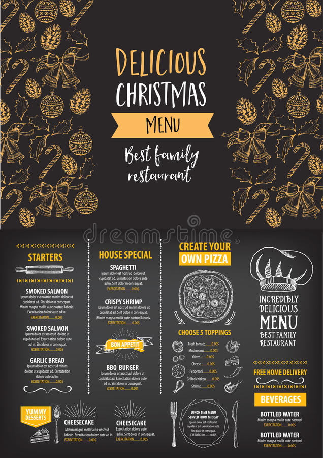 Christmas party invitation restaurant food flyer stock vector download christmas party invitation restaurant food flyer stock vector illustration of holiday stopboris Images