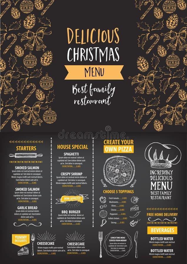 Christmas Party Invitation Restaurant. Food Flyer. Stock Vector ...