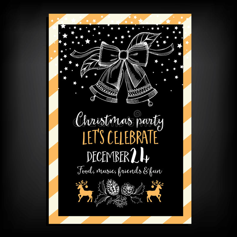 Christmas party invitation restaurant food flyer stock vector download christmas party invitation restaurant food flyer stock vector illustration of flyer stopboris Images