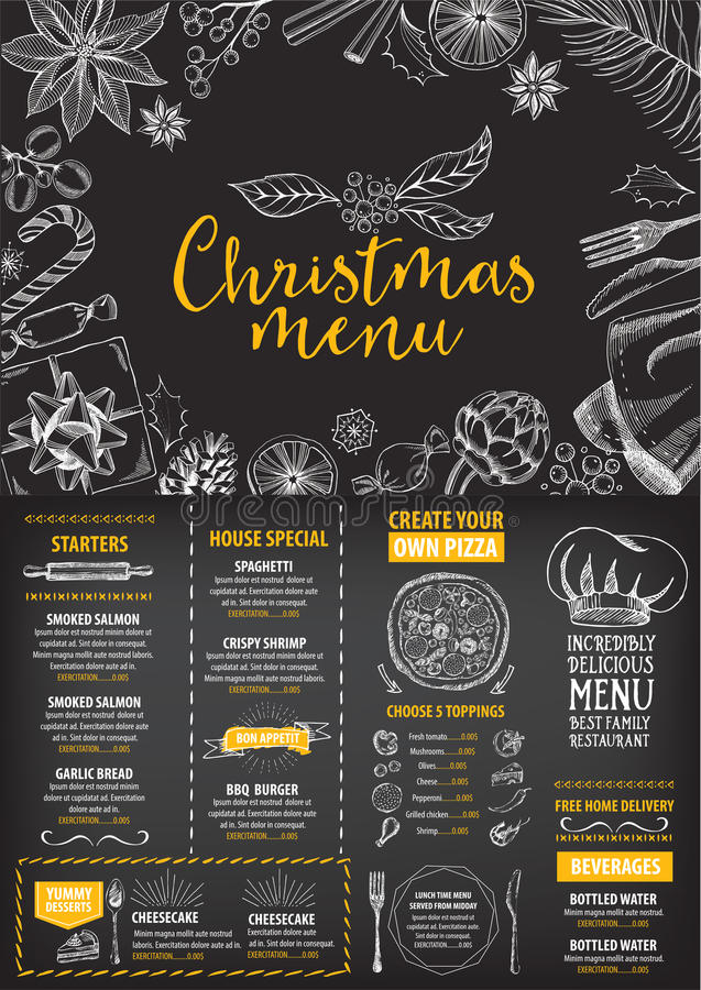 Christmas party invitation restaurant food flyer stock vector download christmas party invitation restaurant food flyer stock vector illustration of dining stopboris Images