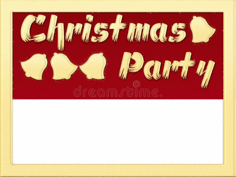 Christmas Party invitation stock illustration