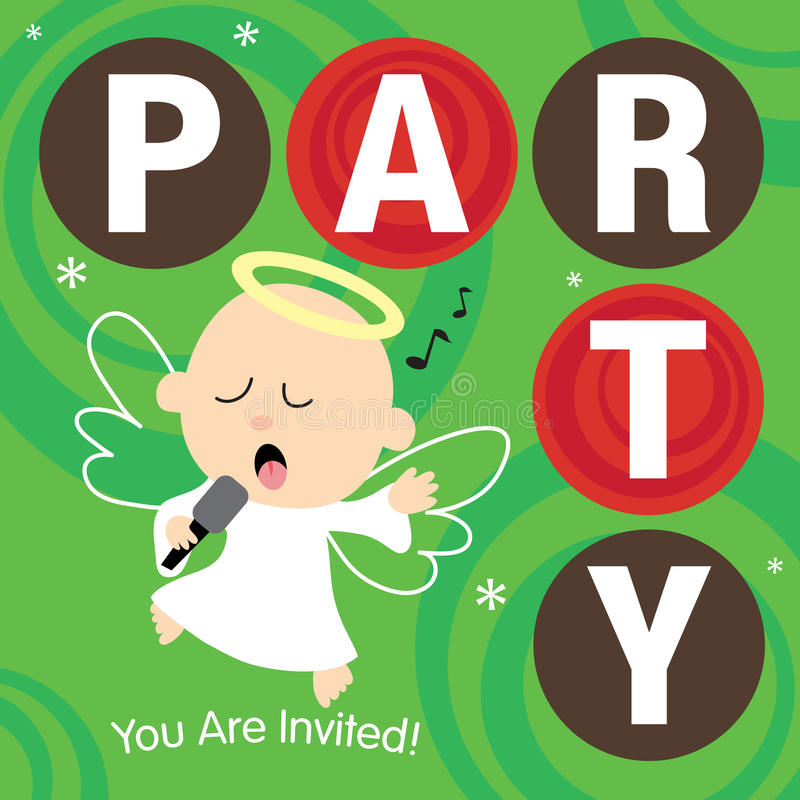 Download Christmas Party Invite stock vector. Image of funny, clip - 10883428