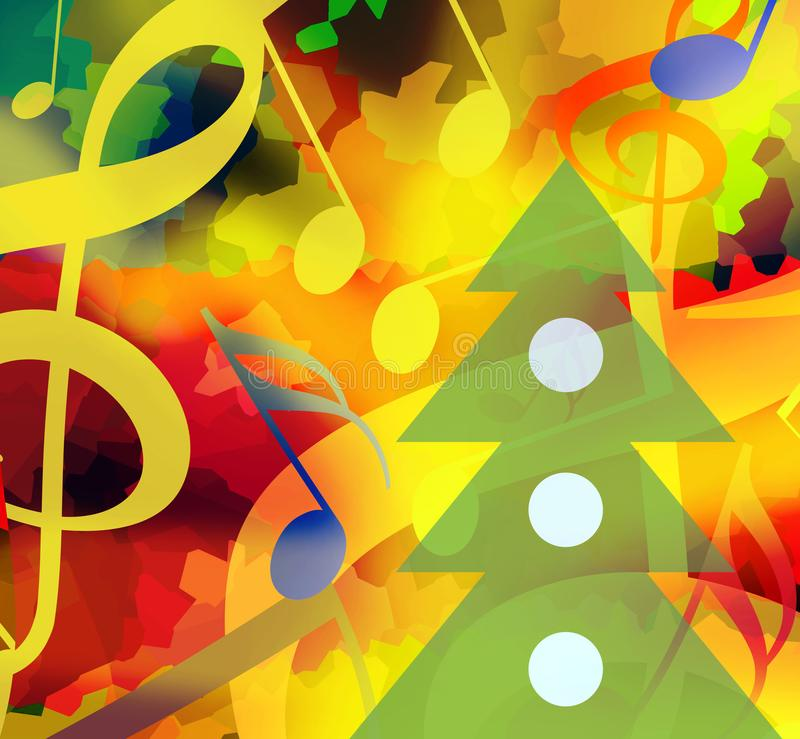 Christmas party music background vector illustration