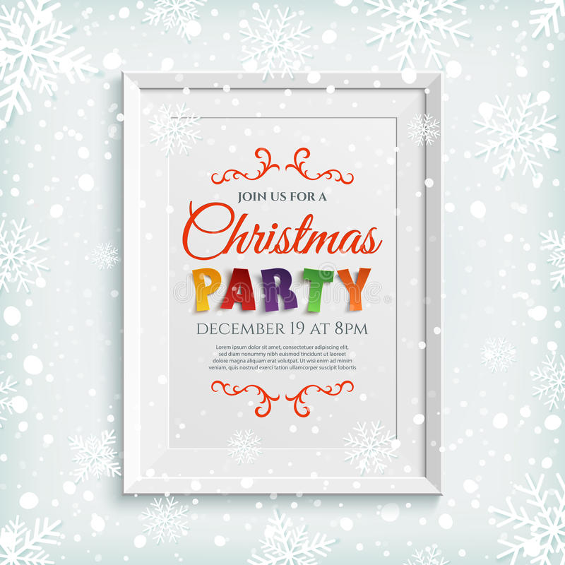 Christmas Party Save The Date Template.Christmas Date Party Save Stock Illustrations 1 094