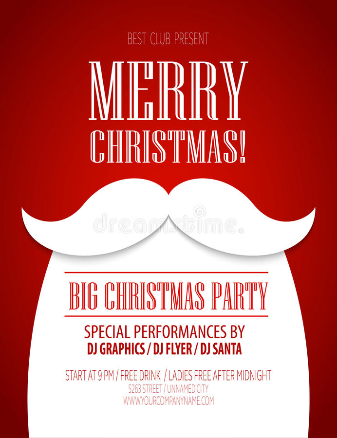 Christmas party poster. Vector illustration vector illustration