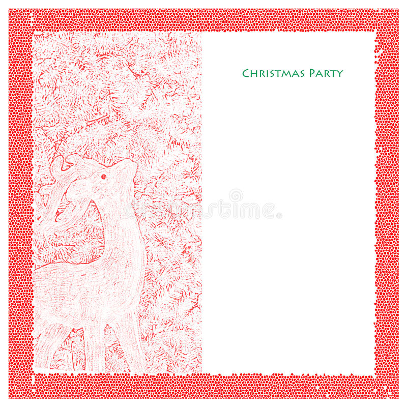 Download Christmas Party Template stock illustration. Illustration of stationary - 27819882