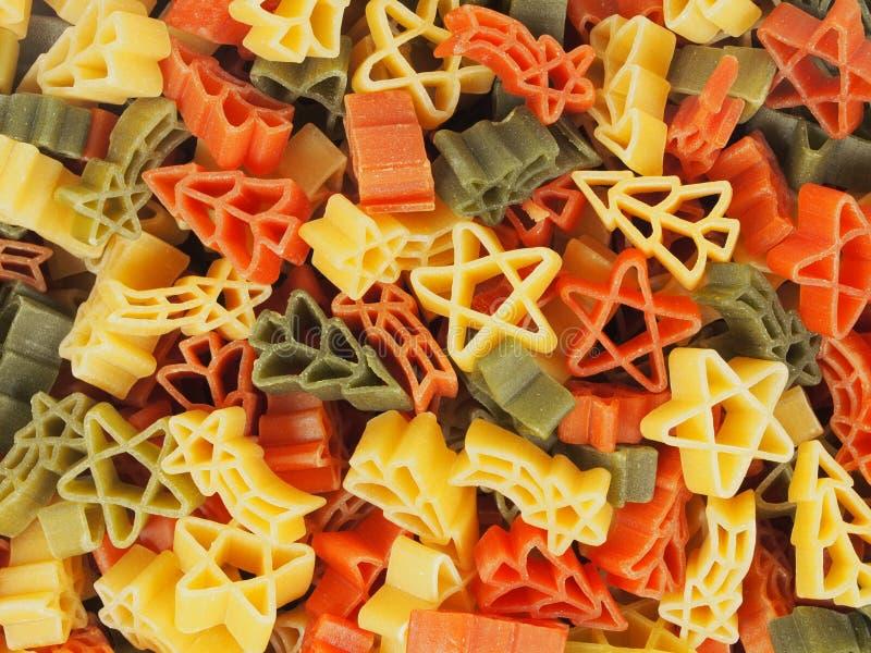 Christmas pasta macro stock photography