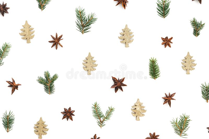 Christmas Pattern On White Background royalty free stock photography