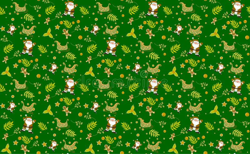Christmas pattern green seamless backgrounds vectors, Collection of boxes with simple decoration hand drawn. Christmas pattern red seamless backgrounds vectors stock images