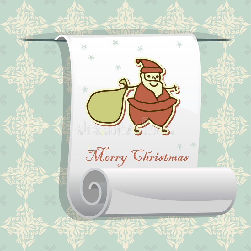 Christmas pattern with roll paper for your greetin royalty free illustration