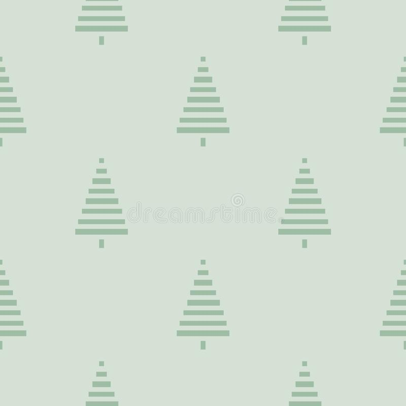Christmas pattern with trees. Simple, winter background Seamless illustration. Christmas pattern with trees. Simple, winter background graphic to print on fabric stock illustration