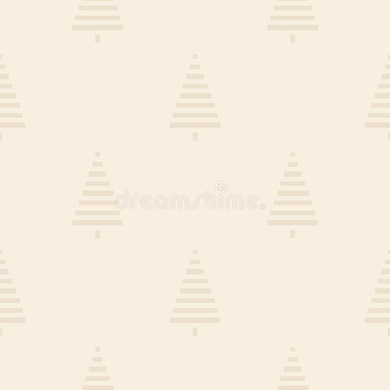 Christmas pattern with trees. Simple, winter background Seamless illustration. Christmas pattern with trees. Simple, winter background graphic to print on fabric vector illustration