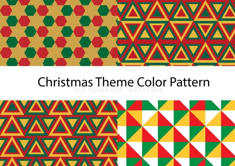Christmas pattern vector set stock photo