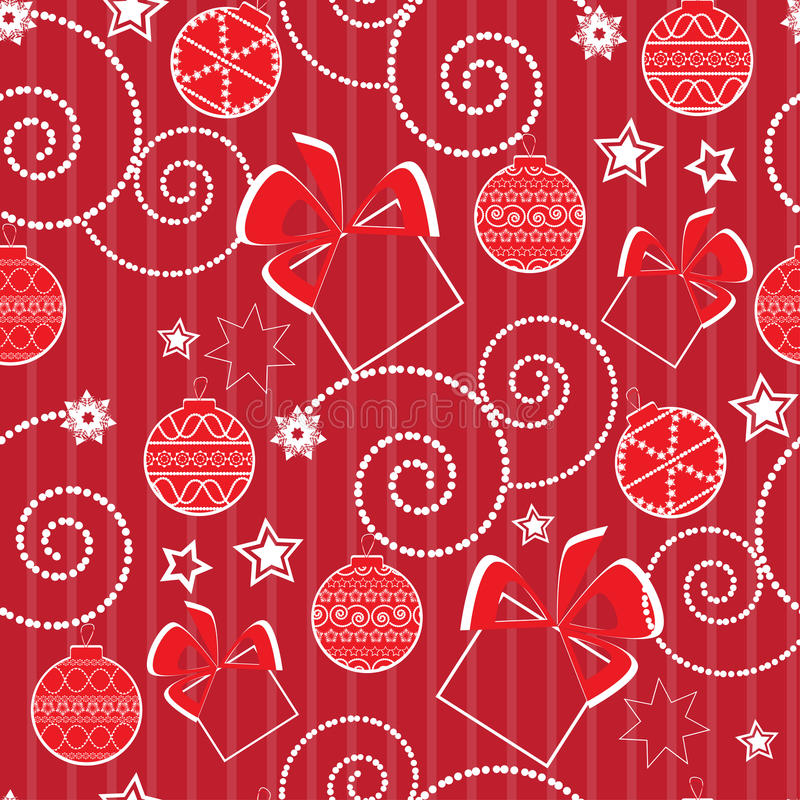 Free Christmas Pattern With Balls And Presents Stock Images - 19636754
