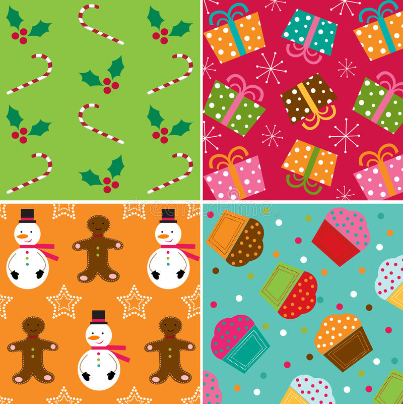 Download Christmas patterns stock vector. Image of gingerbread - 22129468