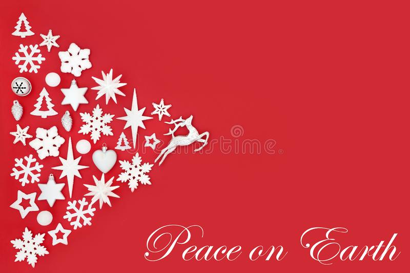 Christmas Peace on Earth Background stock image