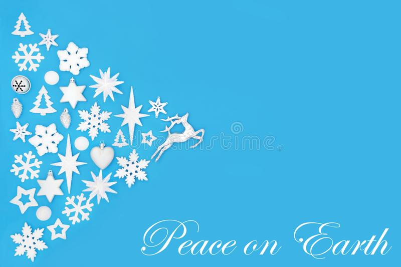 Christmas Peace on Earth Abstract Background stock images