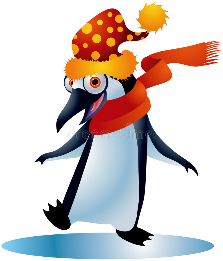 Christmas Penguin #1 royalty free illustration