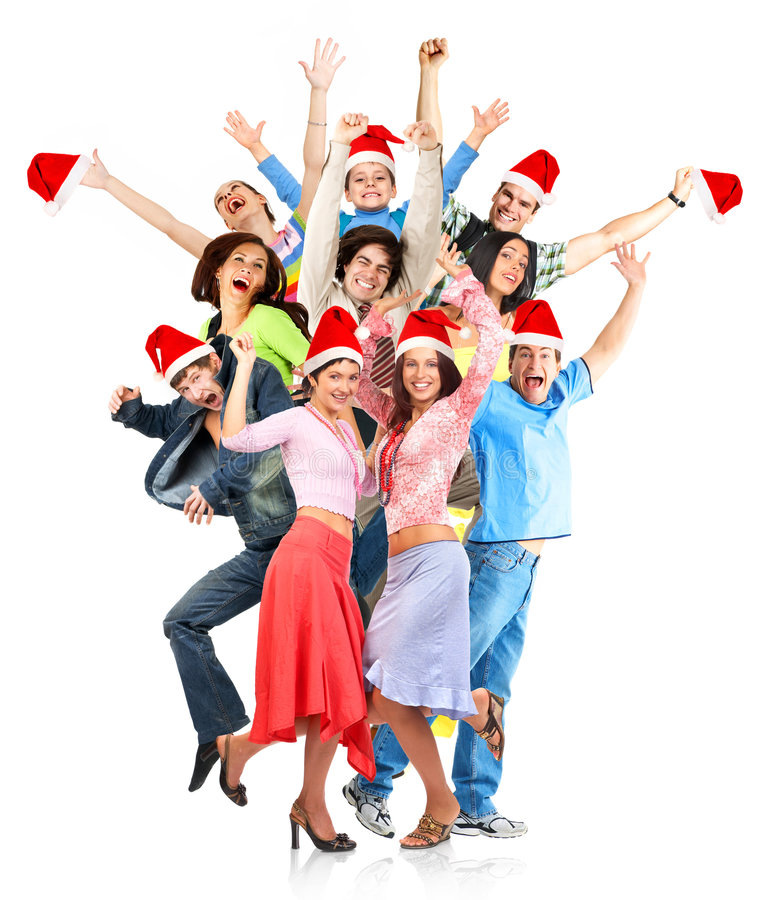Christmas people stock photos