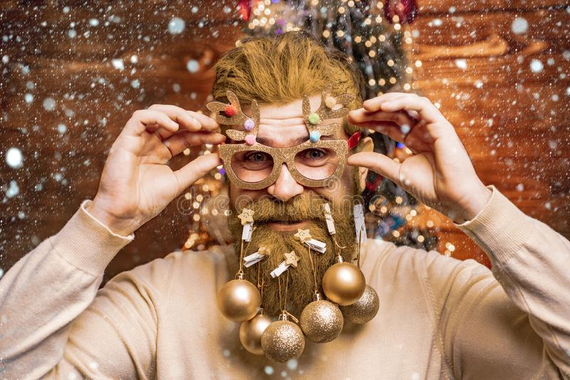 Christmas people celebration New Year. Happy winter time. Happy new year. Santa wishes merry Christmas. Holly jolly swag stock images