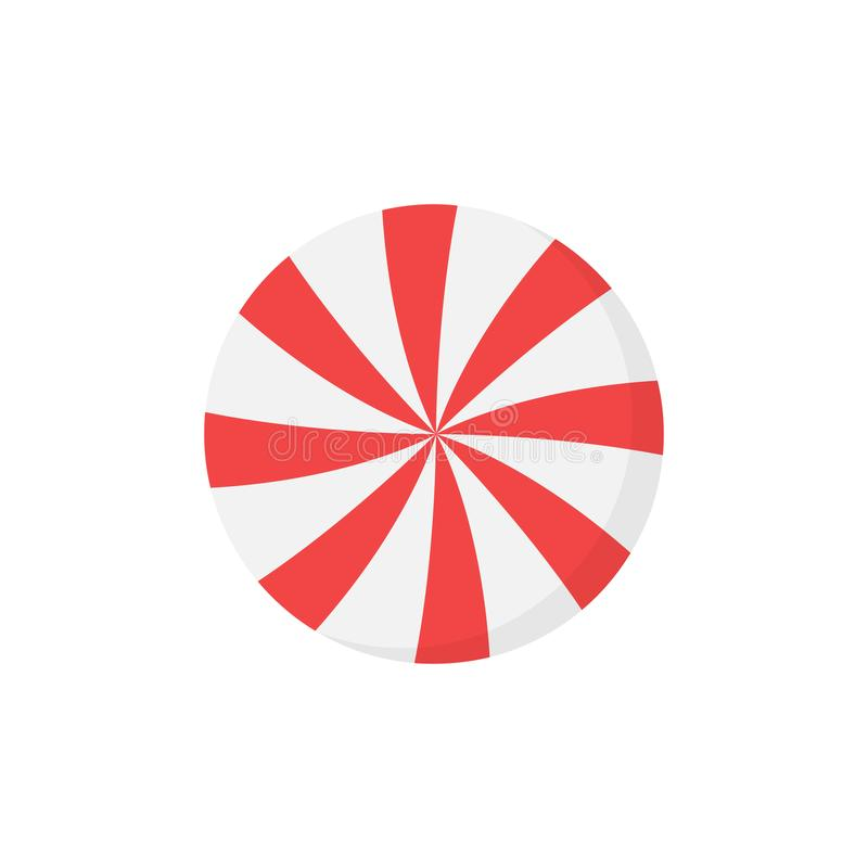 Free Christmas Peppermint Candy Round Vector Icon Royalty Free Stock Photography - 163125087
