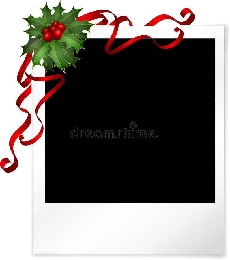 Christmas photo background vector illustration