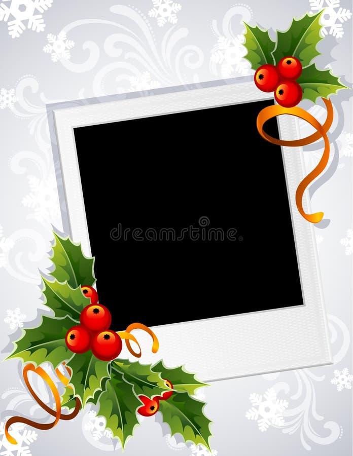 Christmas photo frame vector illustration