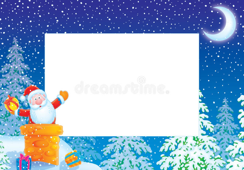 Download Christmas Photo Frame / Border With Santa Claus Stock Illustration - Image: 11802764