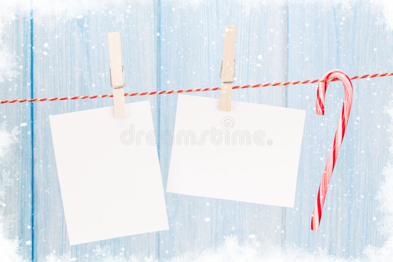 Christmas photo frames stock image